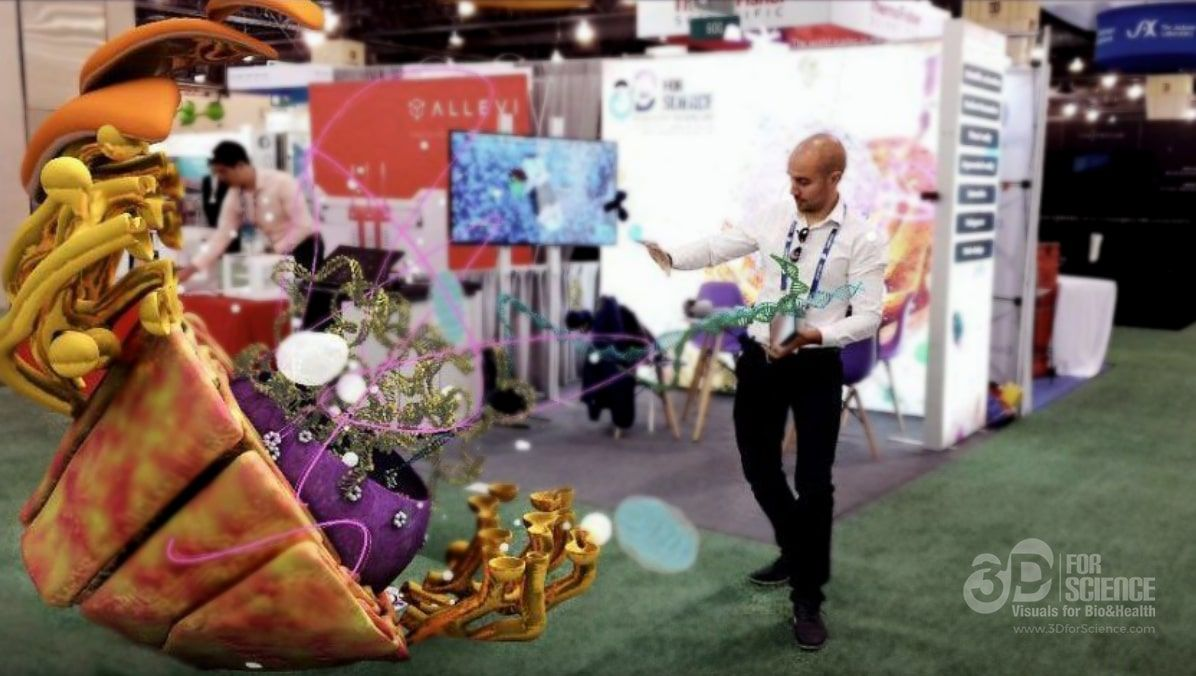 BIO 2019   3DforScience AR and VR Customer Experience