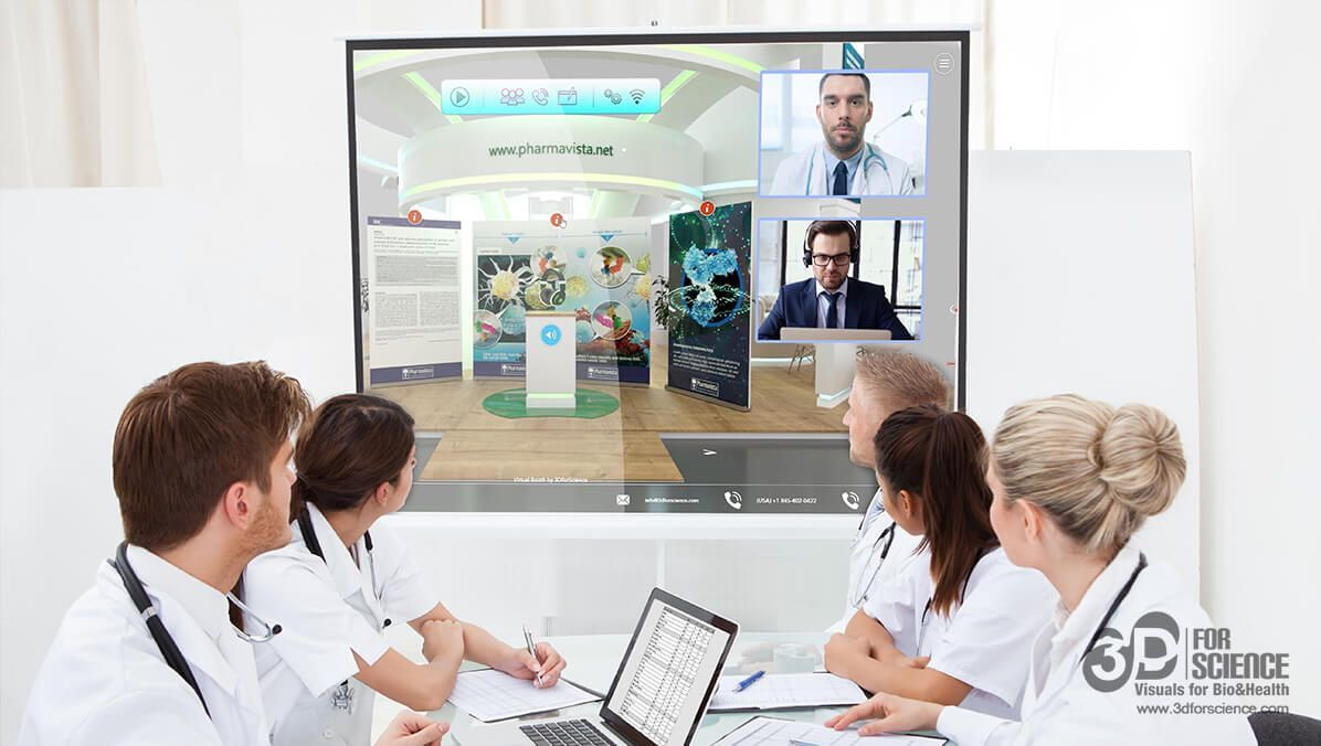 medical webinar in a virtual booth
