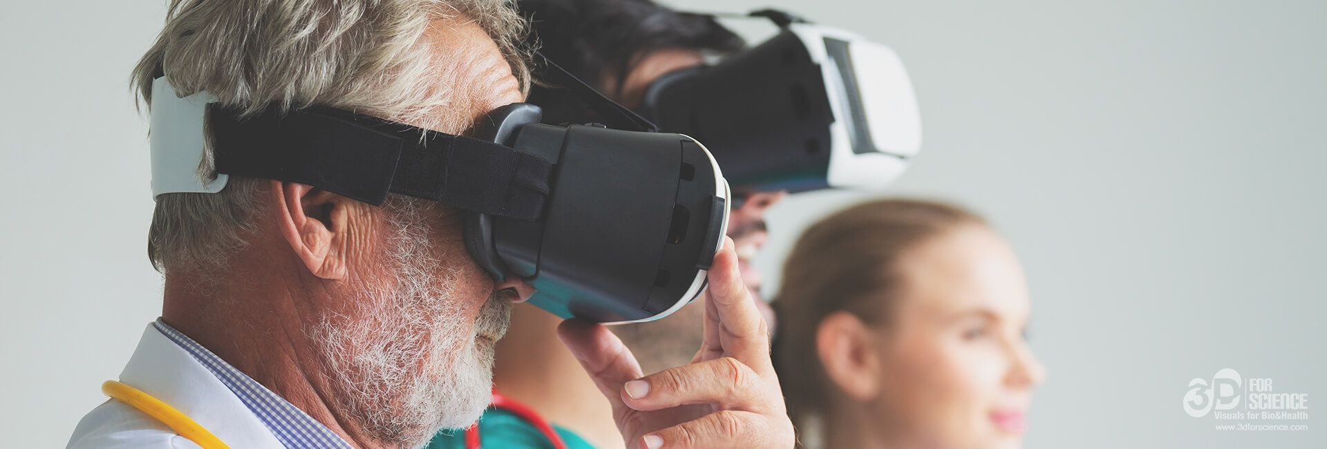 old man using a virtual reality device