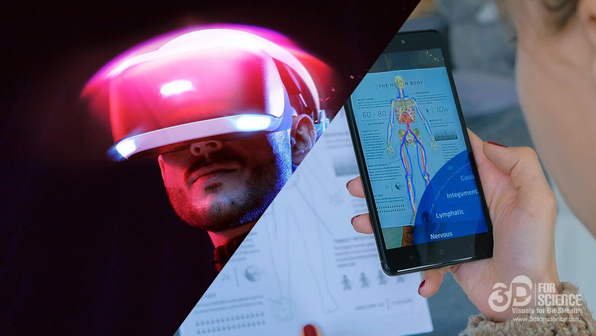 Differences between augmented reality and virtual reality