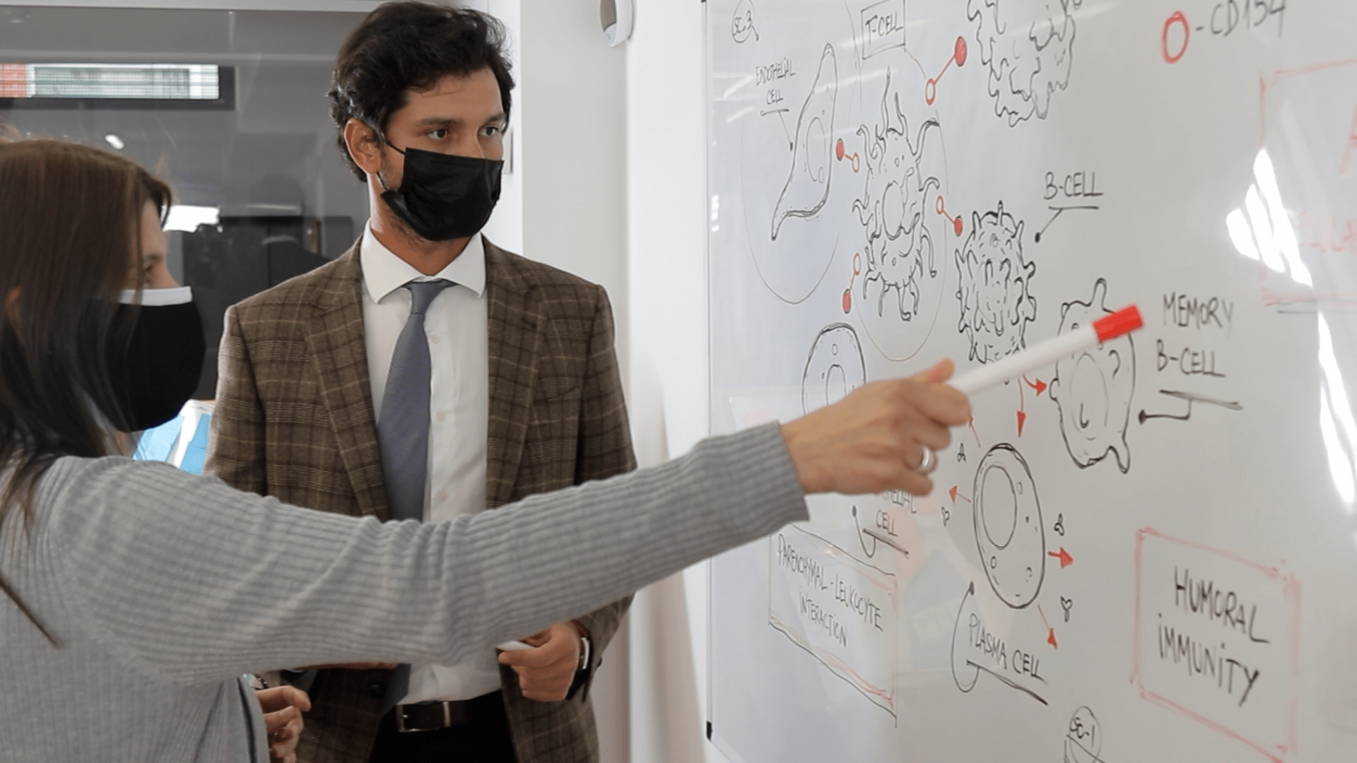 3dforscience with clients in office