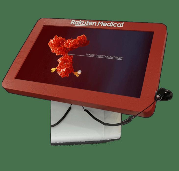 rakuten medical interactive content for booths