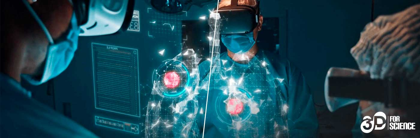 Surgery using VR